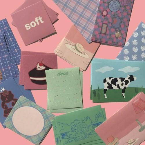 [뮤즈무드] soft vintage muse mood sticker pack