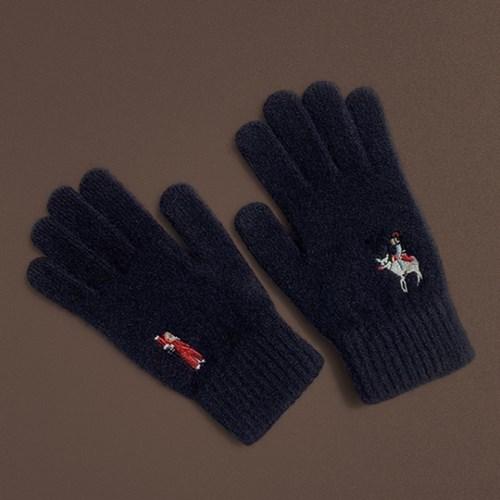 Christmas in Joseon gloves (wool)(navy)