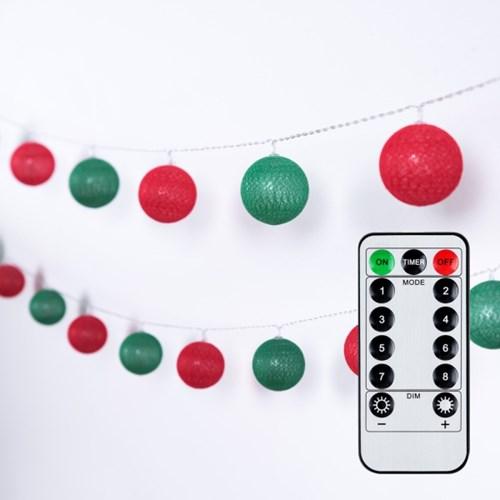 어반 LED 크리스마스 코튼볼 20구 USB형_(1439333)