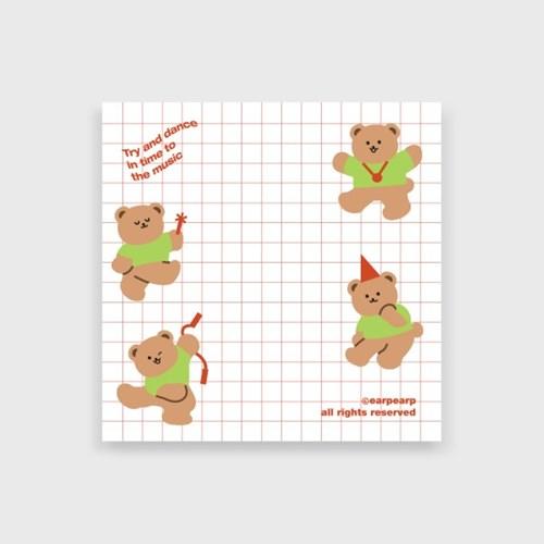 Dancing bear-white(떡메모지)_(1386685)