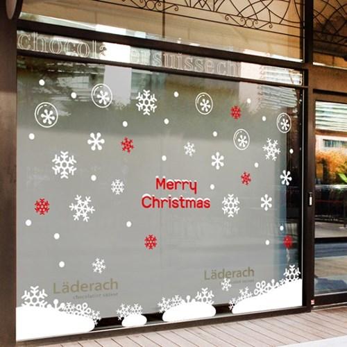 크리스마스 포인트 스티커 눈 내리는 밤_(2434142)