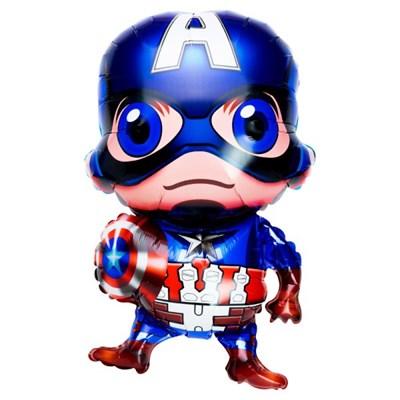 [원팩] 캐릭터은박풍선 빅헤드 캡틴아메리카 43x73cm_(11878660)