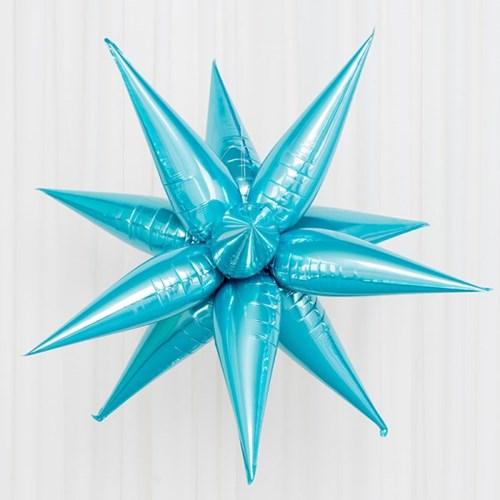 [원팩] 은박풍선 3D별 소 [블루]_(11878941)