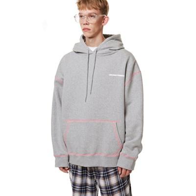 Unisex Stitch Oversize Hood GRAY