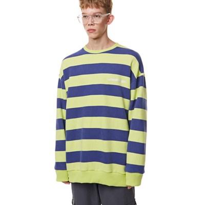 Unisex Striped Sweatshirt LIME