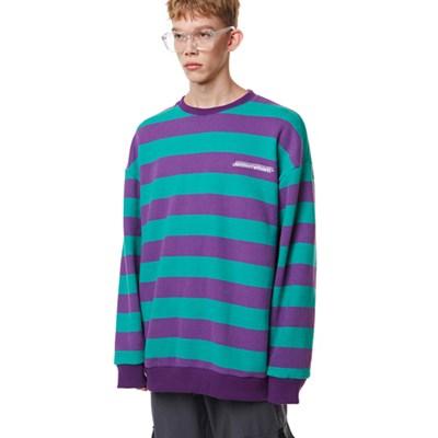 Unisex Striped Sweatshirt PURPLE