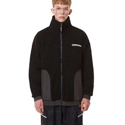 Heavy Fleece Zip-up BLACK