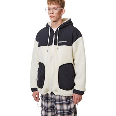 Heavy Fleece Hood Zip-up IVORY