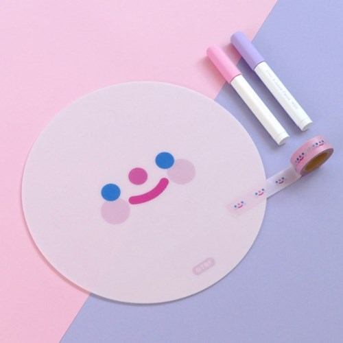 PINK RiCO SMILE mouse pad