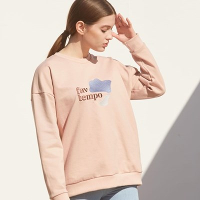 Logo Patch Sweatshirt (Indi Pink)