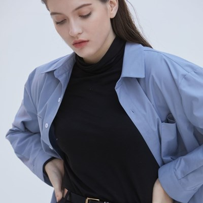 Double Pocket Oversized Shirt