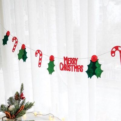 사탕리프 크리스마스 가랜드