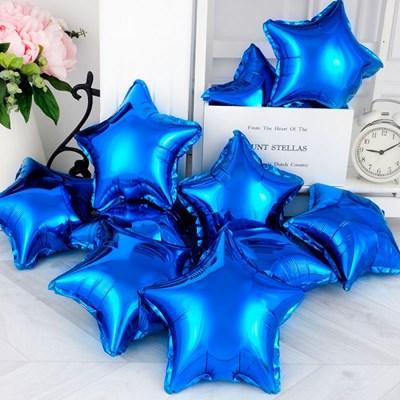 [벌크] 별은박풍선 9인치 10장 [블루]_(11880410)