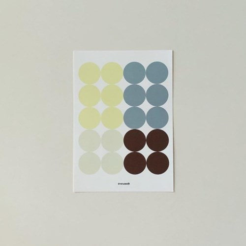 Dot sticker - lemon + blue gray