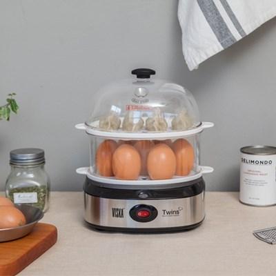 비스카 트윈스 스팀쿠커(계란 및 호빵찜기) GT-M100SC