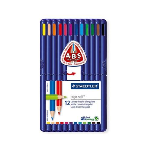 스테들러 고급 삼각 색연필 157 12색 세트