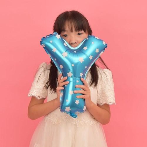 파티복닷컴 이니셜 알파벳 풍선 블루 Y 중형 1개입 (PA01_16B_Y)