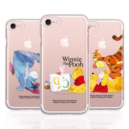 아이폰11 pro max 곰돌이푸 워터컬러클리어젤리케이스