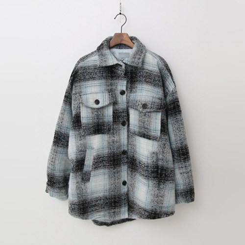 Wool Check Shirts Jumper - 패딩안감