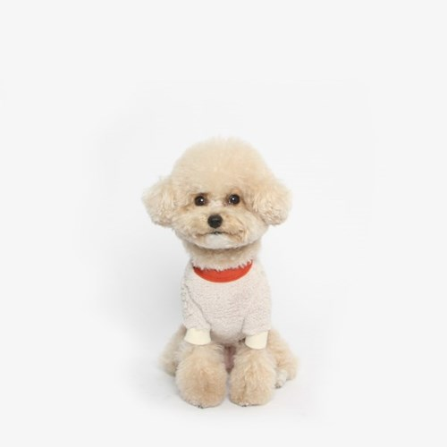강아지 플리스 베어 맨투맨 (아이보리)