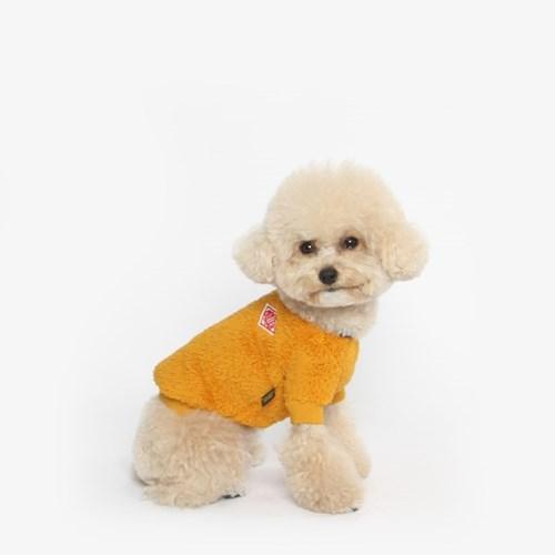 강아지 플리스 베어 맨투맨 (옐로우)