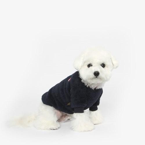 강아지 플리스 베어 맨투맨 (네이비)