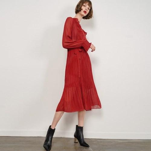 Dorothy Dot Frill Dress_Red_(38534)