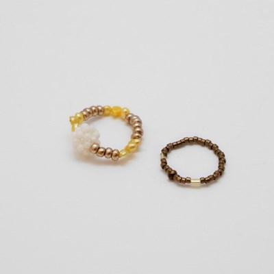 brown caramel rings set