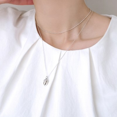(92.5 silver) evening choker necklace