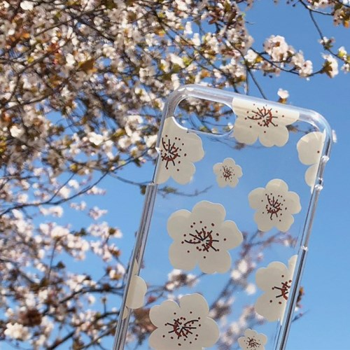 피크닉벚꽃 디자인 클리어케이스