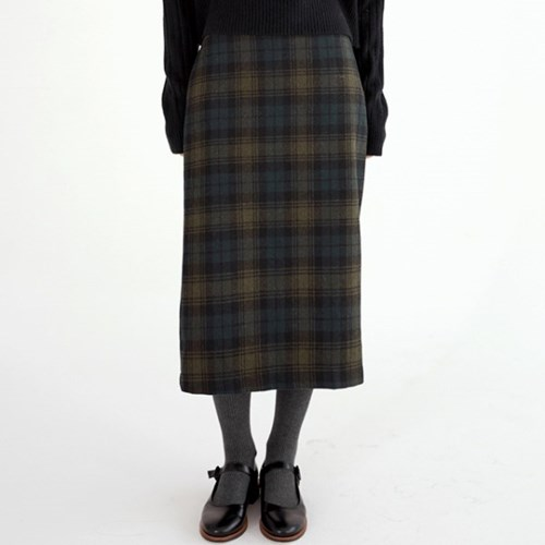 gradation check skirts (2colors)_(1390521)