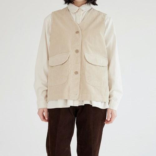 corduroy boy vest (2colors)_(1390518)