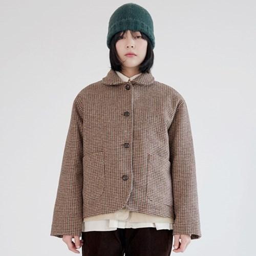 shepherd check wool jacket (beige)_(1390513)