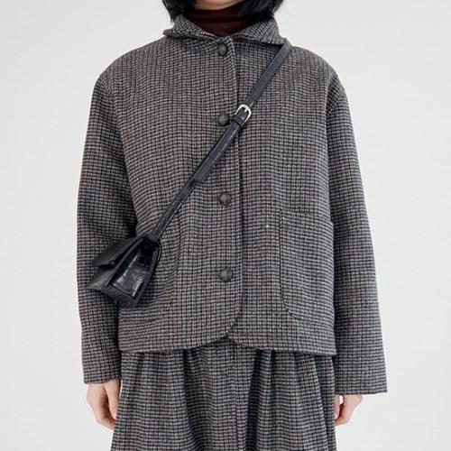 shepherd check wool jacket (black)_(1390512)