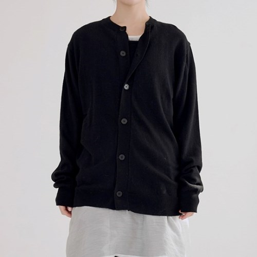 round cashmere cardigan (2colors)_(1389973)