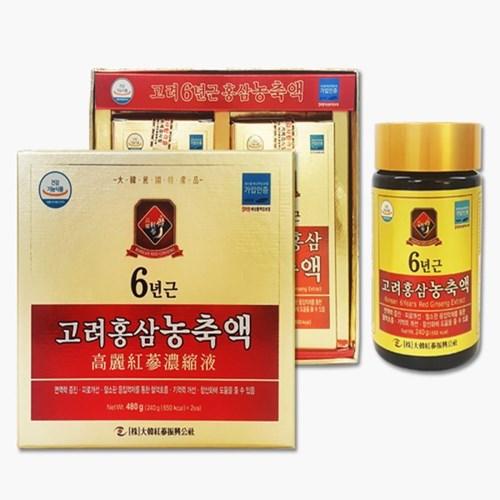 대한홍삼진흥공사 고려홍삼농축액100% 240gX2ea