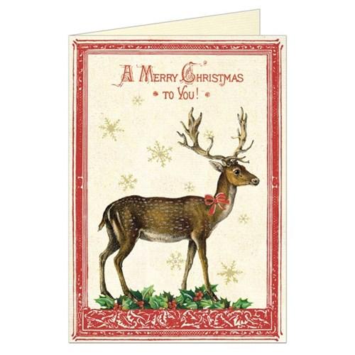 카발리니 크리스마스카드 - 사슴