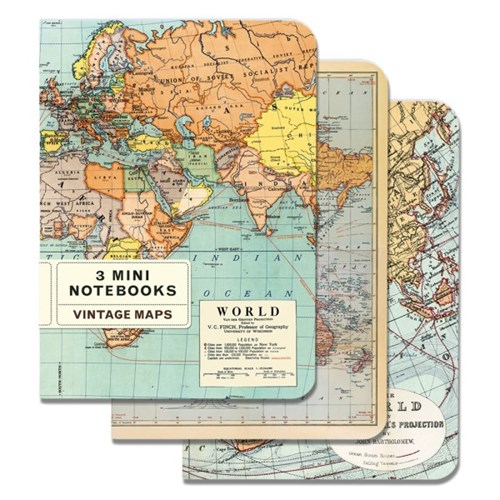 카발리니 미니 노트북 - 빈티지 맵