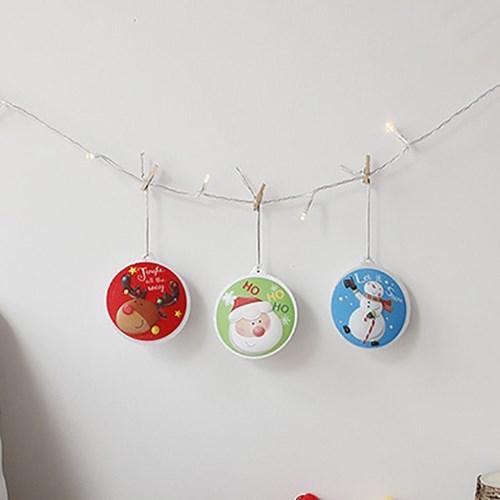 크리스마스 큐티 오너먼트 3p set (수은전지포함)