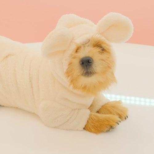 Teddy Bear Fur Hoodie (Cream)
