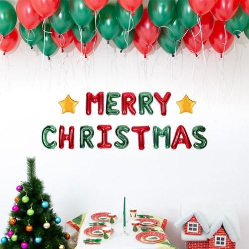크리스마스 은박풍선 가랜드 천장풍선 장식세트