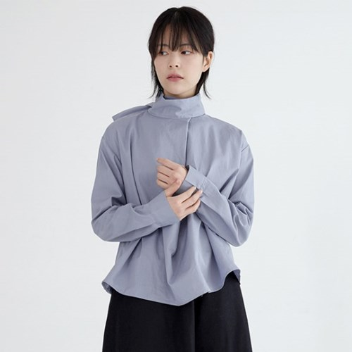 high neck french blouse (2colors)_(1391364)