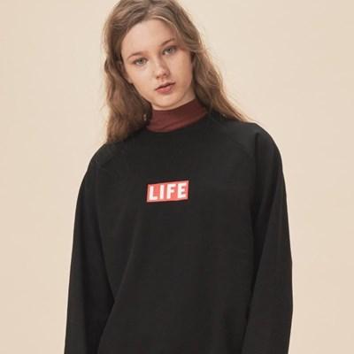 LIFE BASIC LOGO SWEATSHIRT_BLACK_(1483097)
