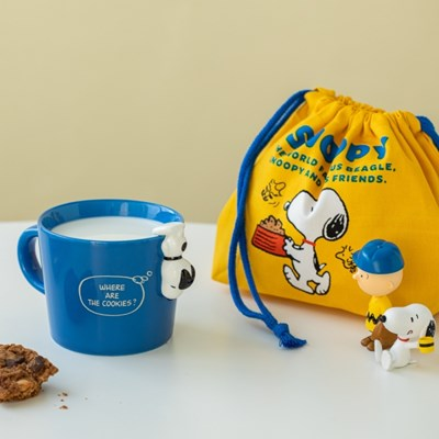 [PEANUTS] MUG CUP WITH FIGURE 4종