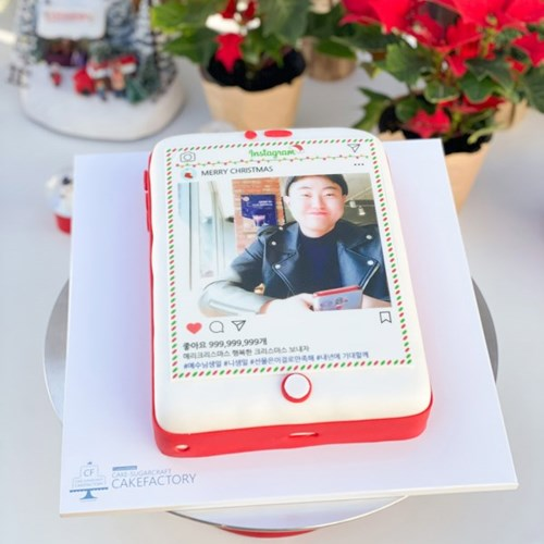 크리스마스 인스타 케이크