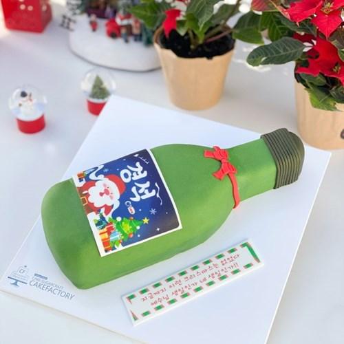 크리스마스 산타소주 케이크