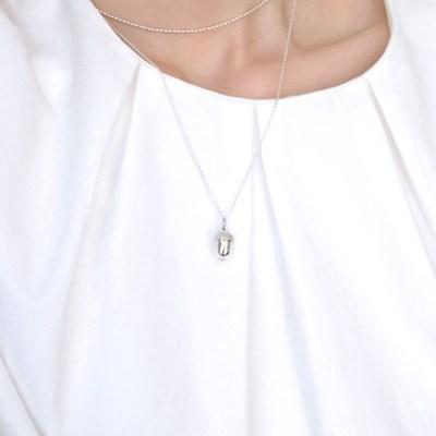 (92.5 silver) acorn necklace