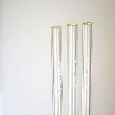 골드 유리빨대 (Gold glass straw)
