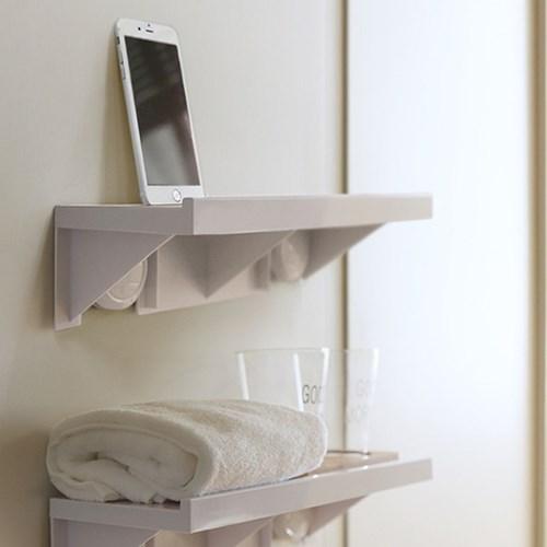 다용도 무타공 거치대 휴대폰 주방 욕실 거실 선반
