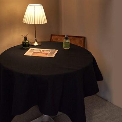 블랭크 블랙 광목 테이블커버 / 식탁보 (2,4,6인)